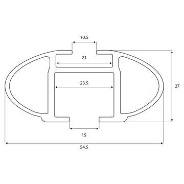 Dachträger Thule SmartRack für Dacia Sandero 01.2013 - 12.2020 Aluminium