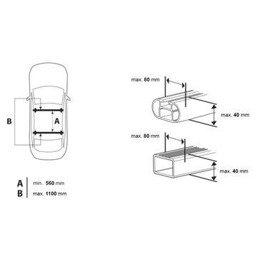 Dachbox Junior Easy 430 schwarz matt